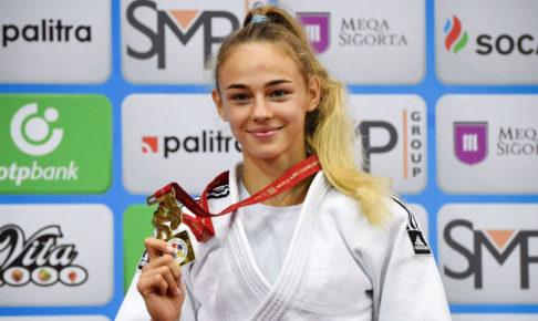 柔道の女子世界選手権48キロ級で、17歳のダリア・ビロディドが優勝